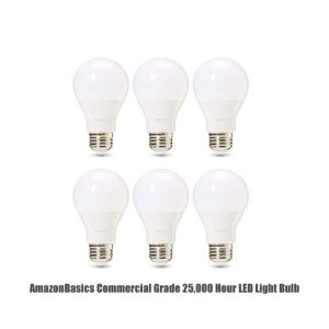 AmazonBasics Commercial Grade 25,000 Hour LED Light Bulb