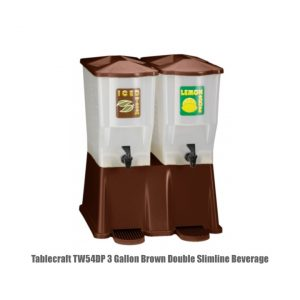 Tablecraft TW54DP 3 Gallon Brown Double Slimline Beverage